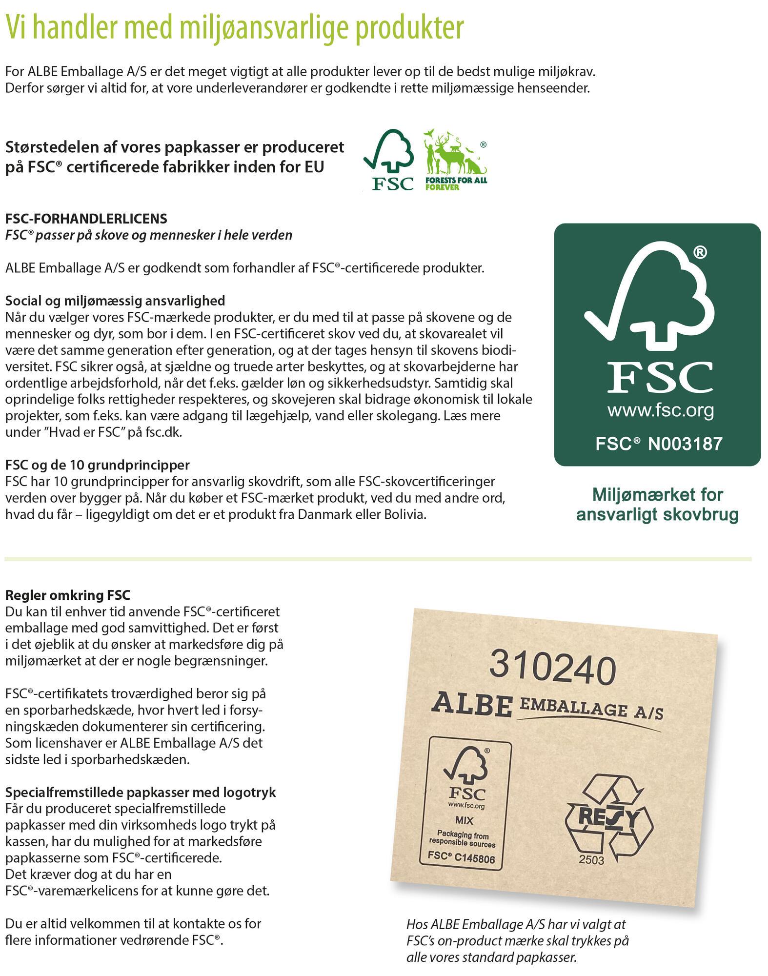 FSC ALBE Emballage