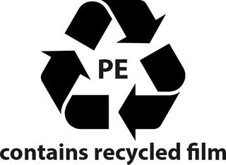 Contains recycled film